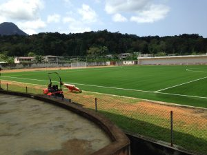 The 3G football field on Principe Island, tested by Surface Performance Ltd